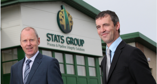 STATS chief executive officer Leigh Howarth with founder Pete Duguid
