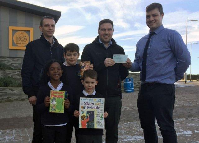 Cheque Presentation at Midmill Primary School