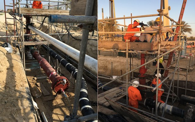 Pipeline re-routed and temporary launcher installed