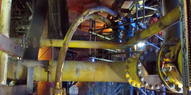 """3.5"""" flowlines with mechanical tie-in clamps and BISEP™ installed"""