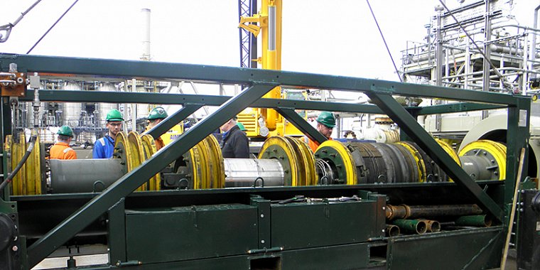 On shore pipe line isolation tecnoplug